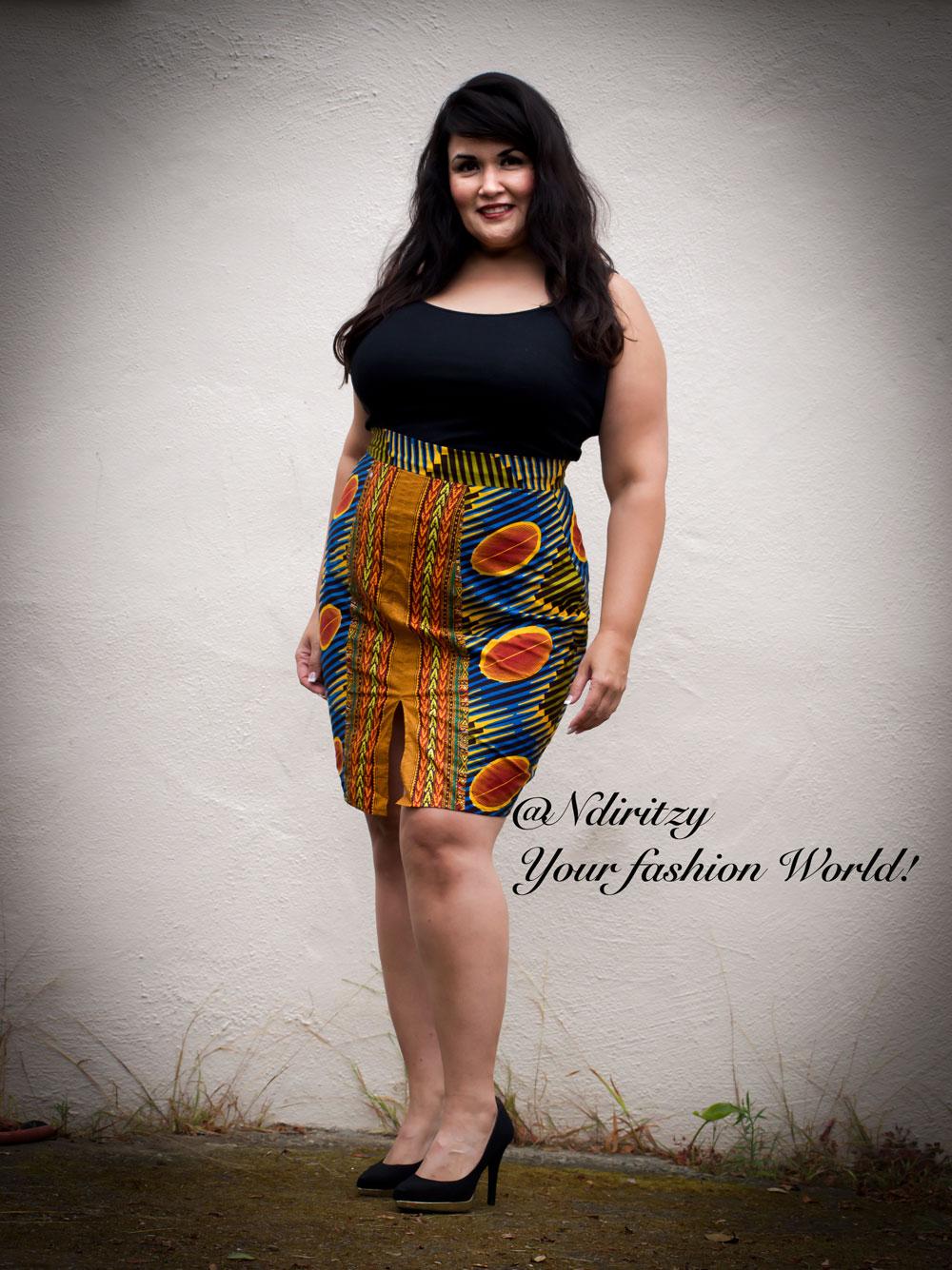 African Print Pencil Skirt Ndiritzy