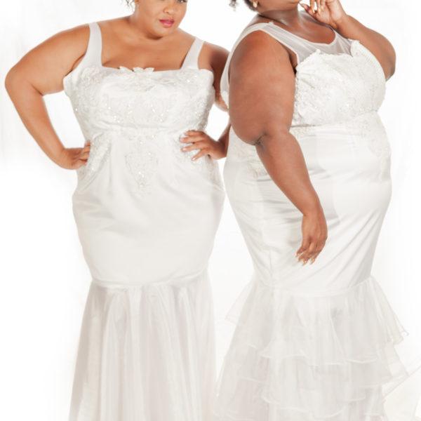 Plus Size White Wedding Dress Gown Bridals Bridal