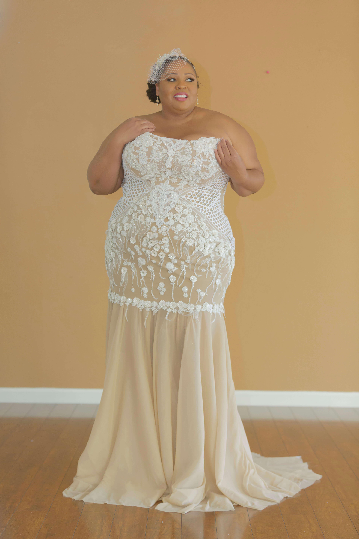 Plus Size Wedding Dress Custom Design Wedding Dress Built In Corset