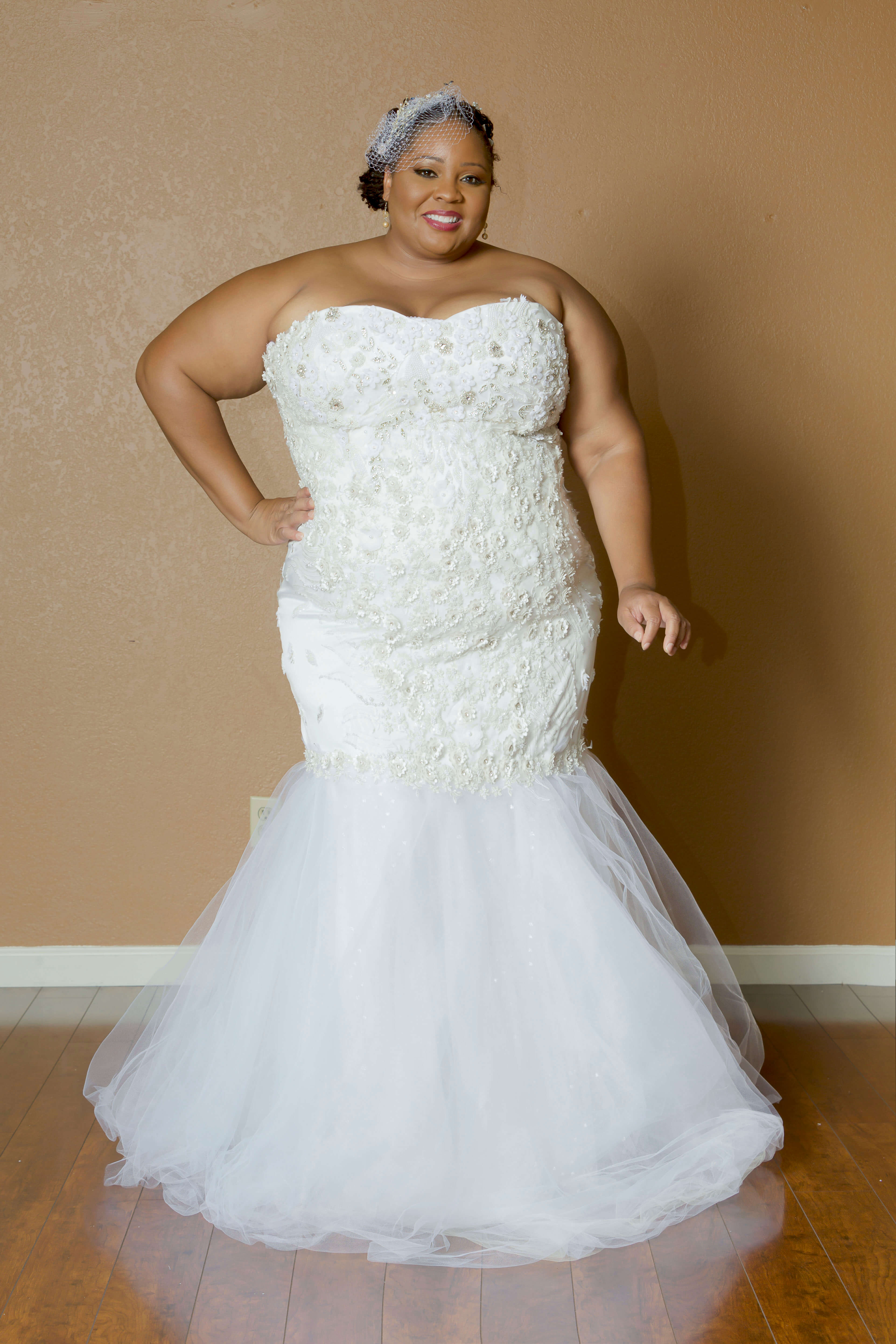 Full Figured Custom Made Wedding Gown Built In Corset Plus Size Dress
