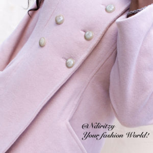 8aafe137e6d Double Breasted Pastel Pink Wool Coat