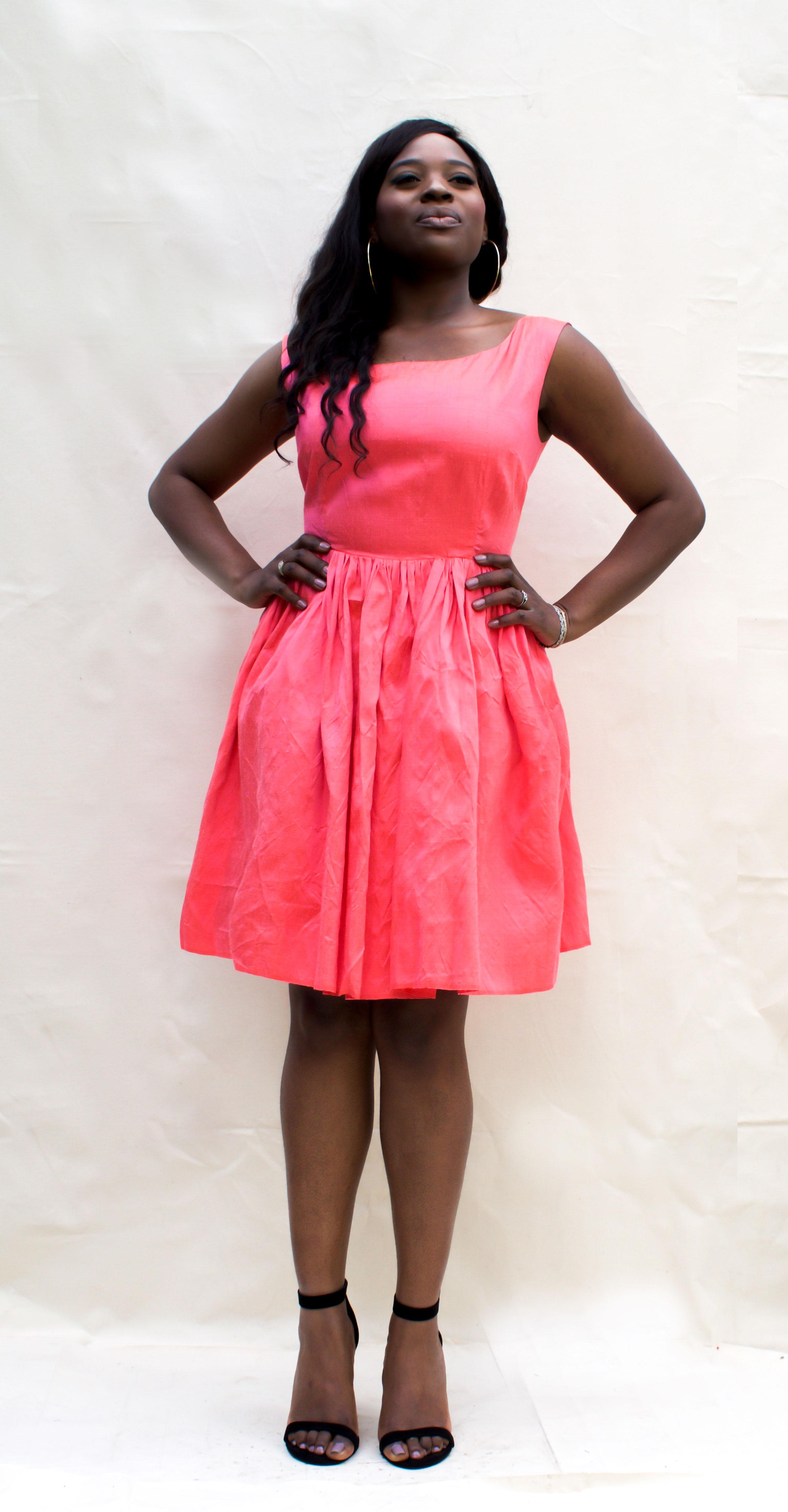 Plus Size Hot Pink Dress Ndiritzy